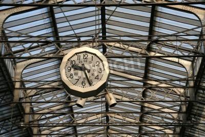 Nálepka Nádraží hodiny v Paříži. Gare de L'Est.