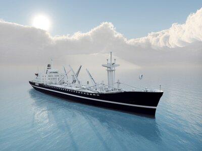 Nálepka Nákladní Loď