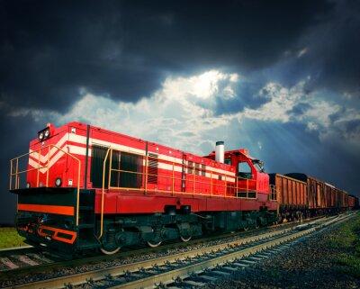 Nálepka nákladní vlak