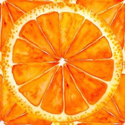 Nálepka nakrájený pomeranč nebo grep
