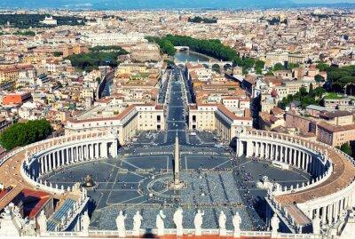 Nálepka Náměstí se starověkým svatého Petra ve Vatikánu