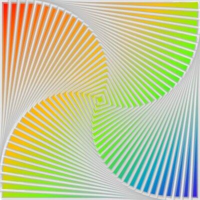 Nálepka Návrh multicolor vír pohyb iluze pozadí