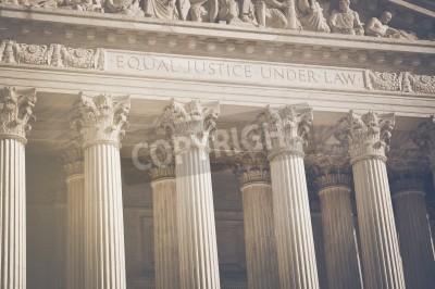 Nálepka Nejvyšší soud Spojených států Pillars spravedlnosti a práva