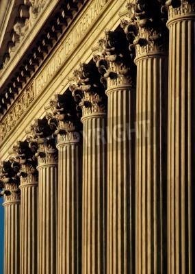 Nálepka Nejvyšší soud USA Stavební fasády a sloupy