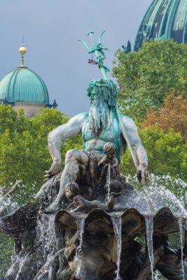 Nálepka Neptunova kašna a Berlin Cathedral, Berlin