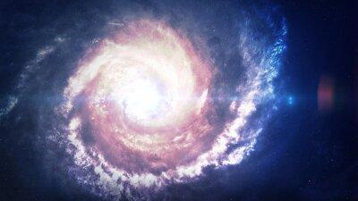 Nálepka Neuvěřitelně krásná spirální galaxie někde ve vesmíru. Prvky tohoto obrázku zařízený NASA