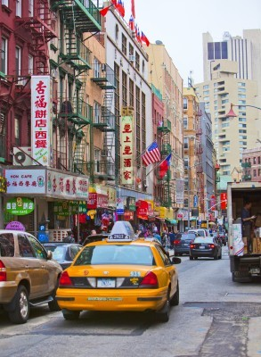 Nálepka NEW YORK - 18. dubna: Ulice v New Yorku