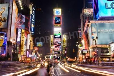 Nálepka New York - 25.května 2007: Noční scéna na náměstí Times Square na Manhattanu (New York City), se všemi rozsvícených billboardů a reklam