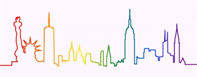 Nálepka New York City Gay-Friendly Skyline Profile