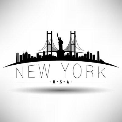 Nálepka New York City Typografie design