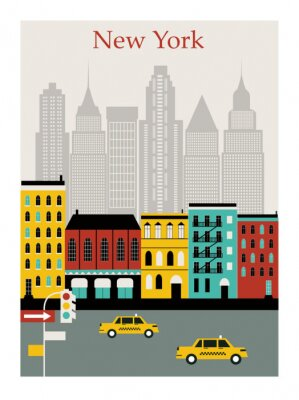 Nálepka New York city. Vector