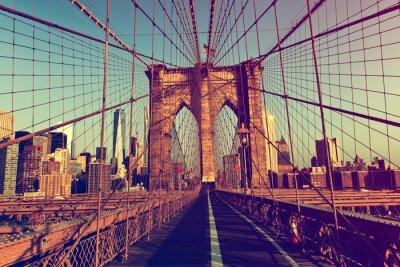 Nálepka New York City z Brooklyn Bridge
