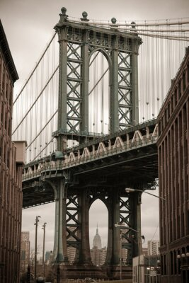 Nálepka New York Manhattan Bridge