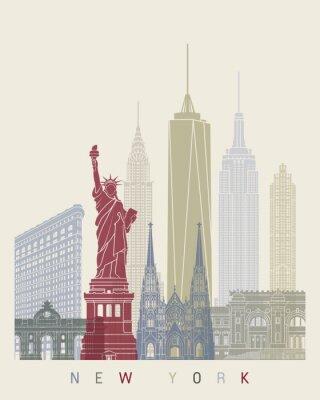 Nálepka New York panorama plakát