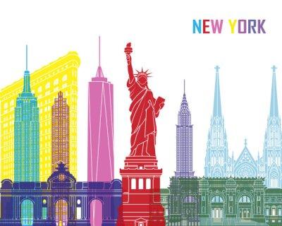 Nálepka New York panorama pop