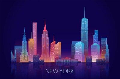 Nálepka New York skyline