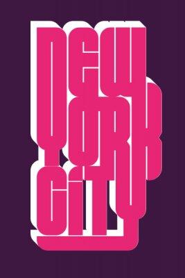 Nálepka New York Sport oblečení typografický znak, t-shirt razítko grafiku