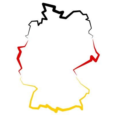 Nálepka Niemcy - mapa