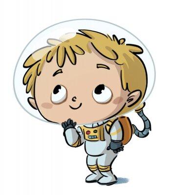 Nálepka Niño astronauta