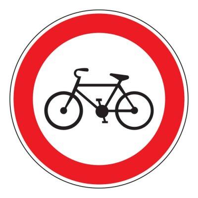 Nálepka no jízdních kol povolena znamení
