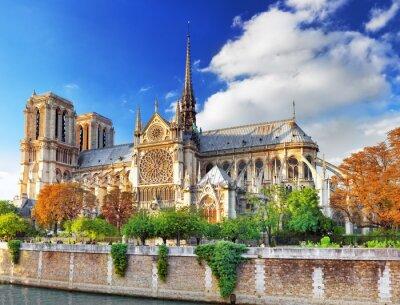 Nálepka Notre Dame de Paris Cathedral.Paris. Francie.