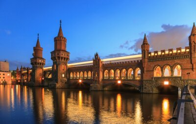 Nálepka Oberbaumbrücke, Berlin, Německo