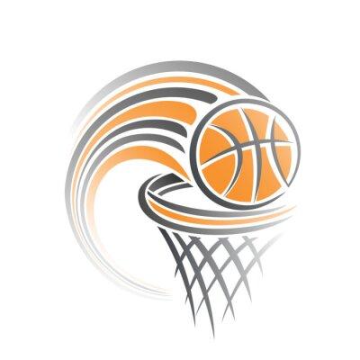 Nálepka Obraz basketbalový míč