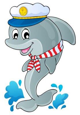 Nálepka Obrázek s tématem delfín 1