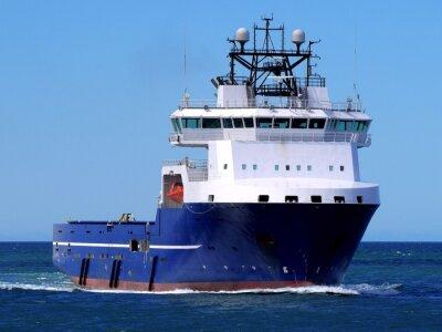Nálepka Offshore zásobovací loď F, offshore zásobovací plavidlo underway na moři pobřežní zařízení.