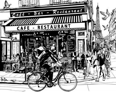 Nálepka Old kavárna v Paříži