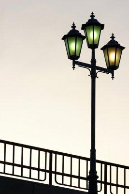 Nálepka Old Street kandelábr proti soumraku pozadí