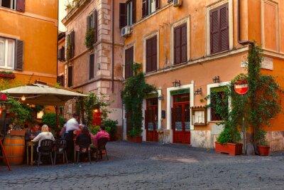 Nálepka Old Street v Trastevere v Římě, Itálie