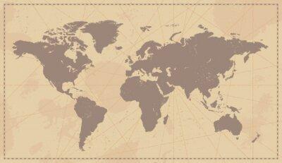 Nálepka Old Vintage Mapa světa