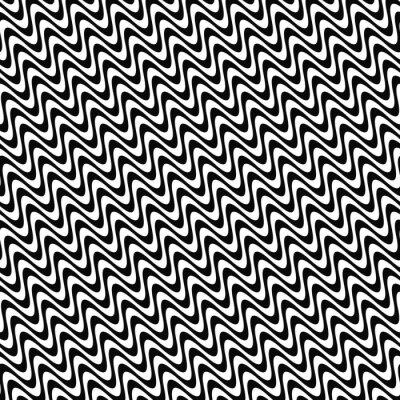 Nálepka Opakující se černá a bílá vlna
