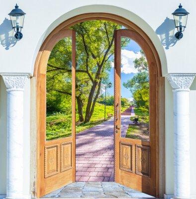 Nálepka Open Door žebřík