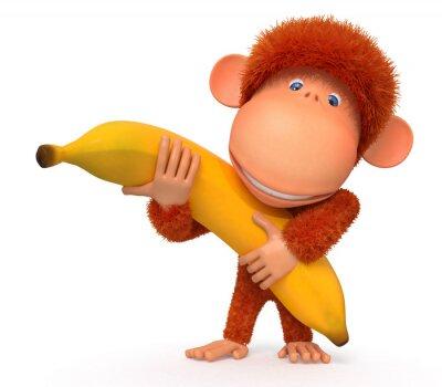 Nálepka Opice s banánem