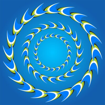 Nálepka optický klam kruh ocasy