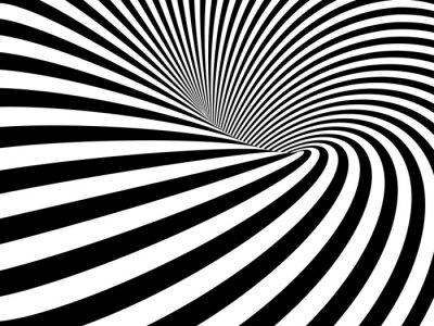 Nálepka Optický klam Wormhole