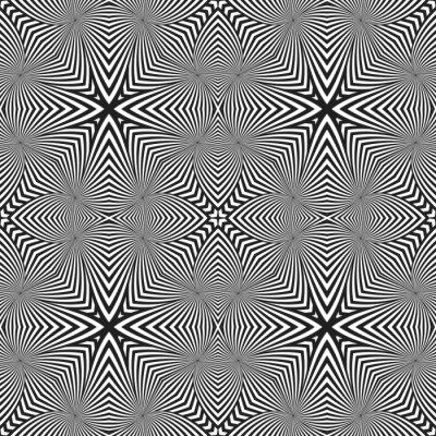 Nálepka Optický umění abstraktní prokládané bezproblémové deco vzor.