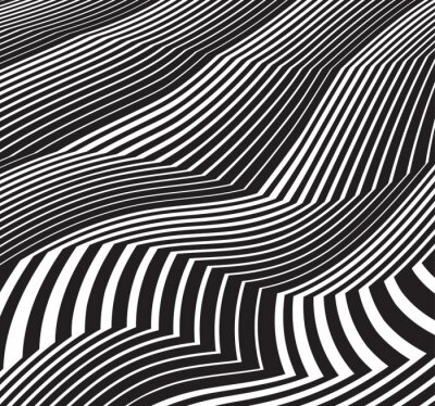 Nálepka optický výtvarné pozadí abstraktní umělecká díla ve stupních šedi černé a drobet