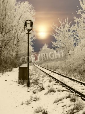 Nálepka Opuštěné železniční