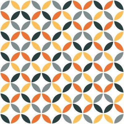 Nálepka Orange Geometrická Retro bezešvé vzor