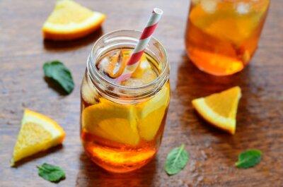 Nálepka Orange studený nápoj