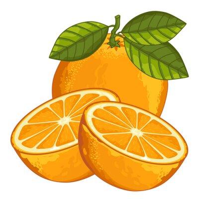 Nálepka Oranžová izolovaných na bílém pozadí.