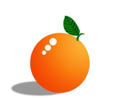 Nálepka Oranžové plody izolovaných