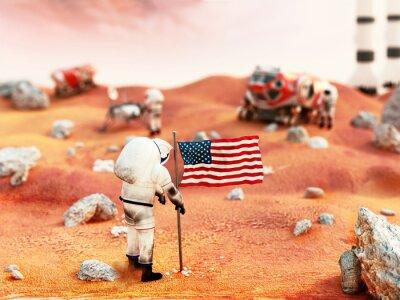 Nálepka Osazená mise Mars