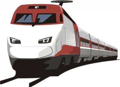 Nálepka osobní vlak