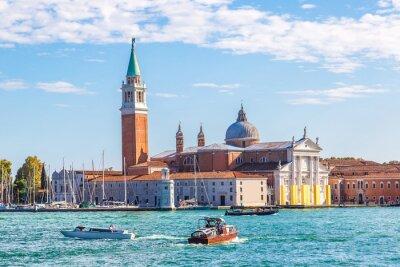 Nálepka ostrov San Giorgio v Benátkách, Itálie