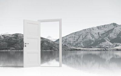 Nálepka Otevřel dveře, aby někde