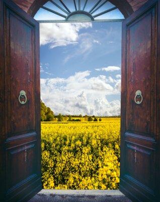 Nálepka Otevřete dveře a krajiny